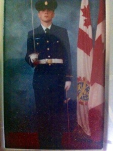A much younger (and thiner) me on basic officer training